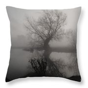 In The Mist Throw Pillow by Yhun Suarez
