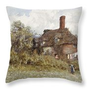 In The Spring Throw Pillow by Helen Allingham