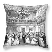 Inaugural Ball, 1869 Throw Pillow by Granger