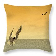 Incoming Throw Pillow by Linsey Williams