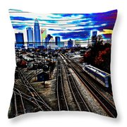 Incoming Throw Pillow by Melanie Kirdasi