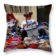 Indigenous Clothing Throw Pillow by Al Bourassa