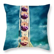 infrared Ferris wheel Throw Pillow by Stylianos Kleanthous