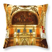 Inside St Louis Cathedral Jackson Square French Quarter New Orleans Digital Art Throw Pillow by Shawn O'Brien