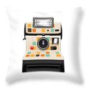 Instant Camera Throw Pillow by Setsiri Silapasuwanchai