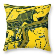 Integrated Circuit Throw Pillow by Carlos Caetano