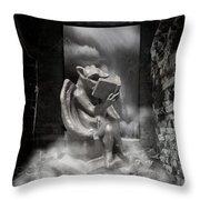 Intellectual   Gargoyle Throw Pillow by Cheryl Young