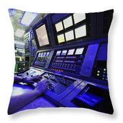 Internal Communications Electrician Throw Pillow by Stocktrek Images