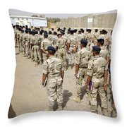 Iraqi Air Force College Cadets March Throw Pillow by Stocktrek Images