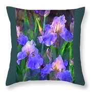 Iris 51 Throw Pillow by Pamela Cooper