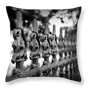 Iron Fence 2 Throw Pillow by Perry Webster