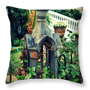 Iron Fence Detail Throw Pillow by Perry Webster