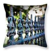 Iron Fence Throw Pillow by Perry Webster