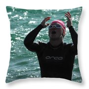 Ironman St George Throw Pillow by Bob Christopher