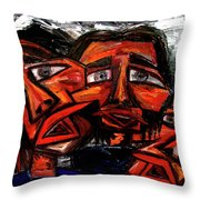 Is 3 Really A Crowd Throw Pillow by Karen Elzinga