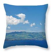 Island On The Horizon Throw Pillow by Gaspar Avila