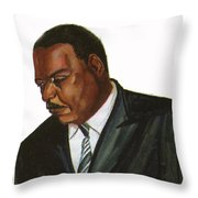 Issa Hayatou Throw Pillow by Emmanuel Baliyanga