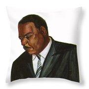 Issa Hayatou Throw Pillow by Emmanuel Baliyanga