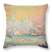 Istanbul Throw Pillow by Paul Signac