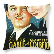 It Happened One Night Throw Pillow by Georgia Fowler