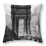 Italy: Ancona, 1833 Throw Pillow by Granger