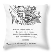 Jack And Jill, 1833 Throw Pillow by Granger