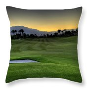 Jack Nicklaus Golf Course Throw Pillow by Jay Hooker