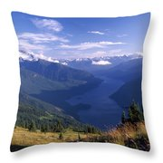 Jack Peak And Ross Lake Throw Pillow by David Pluth