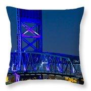 Jacksonville Skyline Throw Pillow by Debra and Dave Vanderlaan
