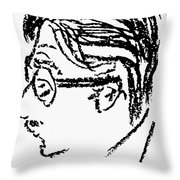 James Grover Thurber Throw Pillow by Granger