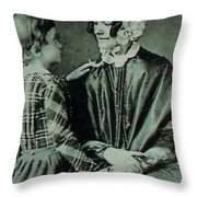 Jane Pierce Throw Pillow by Photo Researchers
