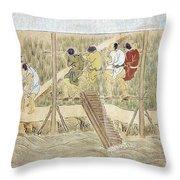 Japan: Irrigation, C1575 Throw Pillow by Granger