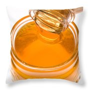 Jar Of Honey Throw Pillow by Garry Gay