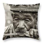 Jaw Harp Throw Pillow by Skip Nall