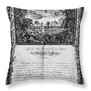 Jefferson: Degree, 1820 Throw Pillow by Granger