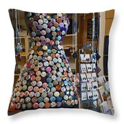 Jewelry Shoppe Throw Pillow by Pamela Patch