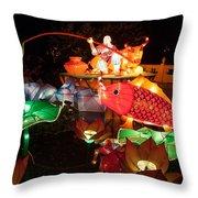 Jiang Tai Gong Fishing Throw Pillow by Semmick Photo