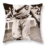 Joe Tinker (1880-1948) Throw Pillow by Granger