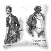 John Brown Cartoon, 1859 Throw Pillow by Granger
