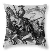 John Browns Raid Throw Pillow by Photo Researchers