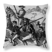 John Browns Raid Throw Pillow by Photo Researchers