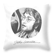 John Lennon Throw Pillow by Six Artist