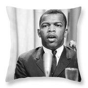John Lewis (1940- ) Throw Pillow by Granger
