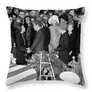 Johnson Funeral, 1973 Throw Pillow by Granger