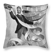 Joseph Pulitzer Throw Pillow by Granger