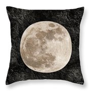 Just A Little Ole Super Moon Throw Pillow by Andee Design