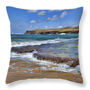 Kauai Beach 2 Throw Pillow by Kelley King