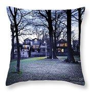 Kew Park At Dusk Throw Pillow by Elena Elisseeva