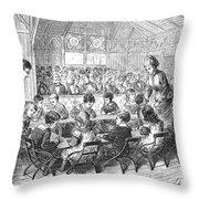 KINDERGARTEN, 1876 Throw Pillow by Granger