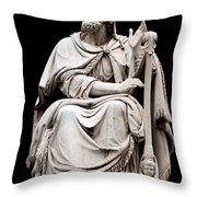 King David Throw Pillow by Fabrizio Troiani